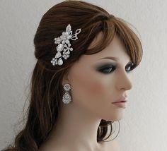 SALE Crystal Comb Bridal Hair Accessories by EleganceByKate