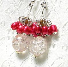Marilyn1545 Marilyn Rush  Jewelry #Earrings #LtPink #Pearls #DrPink #silverFindings etsy.com/listing/729959… #Handmade #Unique #Original #Affordable #Fashionable #Style