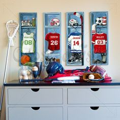 Sports Wall Locker Canvas are perfect addition to any little boys room!! You can personalize it & they come in football, soccer, hockey, basketball & baseball!!
