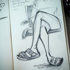 Legs at the airport. I love. #DailyDoodle
