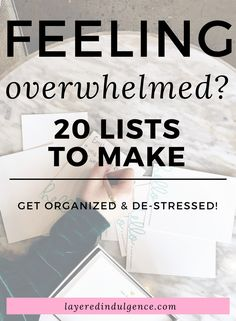 Health If you feel like organizing your life, here are 20 lists to make! Making lists is one of the best things to do when you feel stressed and overwhelmed or when bored. Here are some great ideas to jot down on paper to get organized and de-stressed! Get Your Life, Organize Your Life, Feeling Down, How Are You Feeling, Bujo, Motivation, Beauty Routine Checklist, Self Development, Personal Development