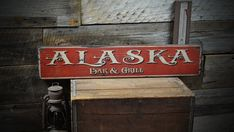 love this font Custom State Bar & Grill Wood Sign  Rustic by TheLiztonSignShop, $39.00