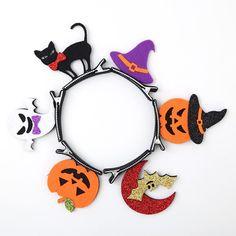 Halloween Hair Clips, Halloween Headband, Halloween Bows, Halloween Favors, Halloween Masquerade, Baby Girl Halloween, Spirit Halloween, Halloween Decorations, Halloween Party