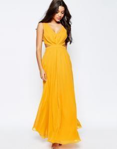 de1d7ee894 ASOS sukienka MAXI pomarańczowa WYCIĘCIA S 36 8 - 6028731075 - oficjalne  archiwum allegro