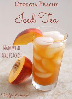 Georgia Peachy Iced Tea - Satisfying Eats