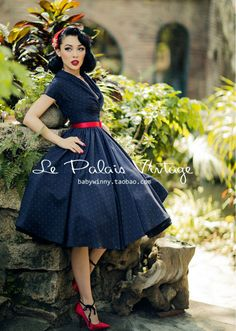 Sissy Likes Clothes, Lingerie, and Fashion Look Vintage, Vintage Style Dresses, Vintage Outfits, Vintage Inspired Fashion, 1950s Fashion, Vintage Fashion, Idda Van Munster, Robe Swing, Kim Jisoo