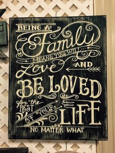 Handpainted 16x20 Wood Being a Family Sign by jammyjanedesigns