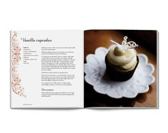 New Zealand Book Design. Cookbook layout and cover design by Auckland book designers The Fount. Recipe Book Design, Cookbook Design, Food Design, Creative Design, Dessert Book, Vanilla Cupcakes, Book Cover Design, Page Design, Editorial Design
