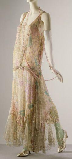 Callot Soeurs dress ca. 1922 via The Victoria & Albert Museum