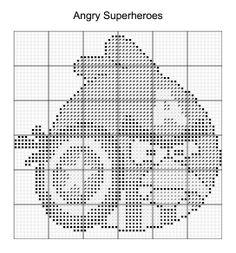 Cross Stitch - Angry Bird Superheroes 6 of 16 - captain america
