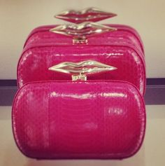 Love the bright color of this clutch! #DVF