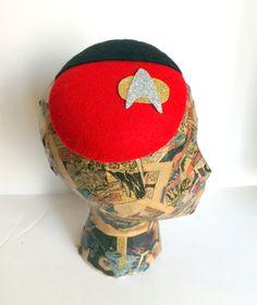 Star Trek Uniform Shirt Inspired Cocktail Hat In by ChefBizzaro, $75.00