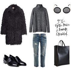 A fashion look from January 2015 featuring Vanessa Bruno Athé sweaters, Chicnova Fashion coats and Current/Elliott jeans. Browse and shop related looks.