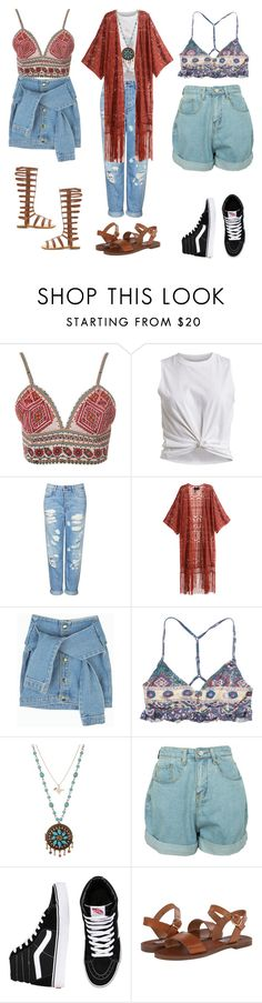 """""""Indie Festival Outfits"""" by stellaluna899 ❤ liked on Polyvore featuring Glamorous, VILA, Topshop, H&M, RVCA, Betsey Johnson, Vans, Steve Madden and Charlotte Russe"""