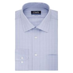 Men's Chaps Regular-Fit Wrinkle-Free Stretch Collar Dress Shirt, Size: 18 36/37, Blue Other