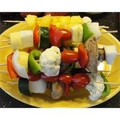 These fantastic Veggie Kabobs were prepared with loving care by Larry Johnson incorporating a unique combination of vegetables available to him...