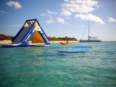AquaGlide Slide at the Fury Catamaran Beach in Cozumel Mexico
