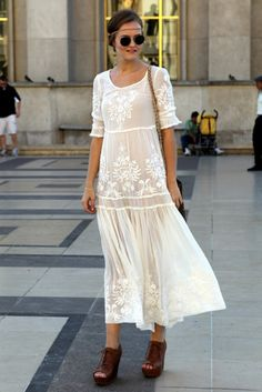 White floaty dress-YES. Shoes-NO.