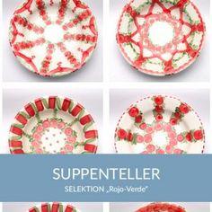 suppenteller_rojoverde_sel Natural Selection, Simple Lines, Tablewares