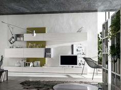 #Living #design #home #SantaLucia #pareteattrezzata #obyday