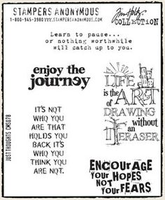 *Tim Holtz Cling Rubber Stamps JUST THOUGHTS Stampers Anonymous
