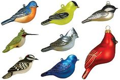 Cobane Studios glass bird ornaments - a wonderful gift for a bird lover! I have also seen these available for individual sale.