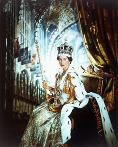 Her Majesty Queen Elizabeth II on her Coronation Day in 1953 by photographer Cecil Beaton