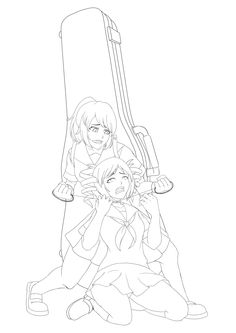 Simulator yandere chan coloring pages coloring pages for Yandere simulator coloring pages