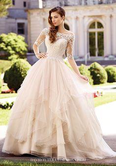 David Tutera for Mon Cheri 117292 Aurelia Ball Gown Wedding Dress
