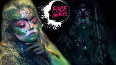NYX Face Awards USA 2018 Entry Makeup Tutorial, Glam Swamp Monster SFX, NYX Cosmetics, Halloween Makeup, Costume, Youtube, Glitter