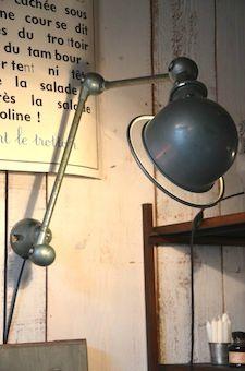brocantedelabruyere.com Metal, articulating, industrial, reading light, lamp, wall mount