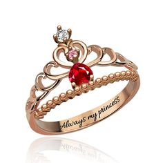 Cheap crown jewelry, Buy Quality ring rose gold directly from China birthstone rings Suppliers: Wholesale Personalized Beautiful Tiara Birthstone Ring Rose Gold Color Fairytale Princess Tiara Crown Jewelry for Women Rose Gold Morganite Ring, Rose Gold Diamond Ring, Floral Engagement Ring, Morganite Engagement, Princess Tiara Ring, Pink Tourmaline Ring, Gold Bands, Wedding Rings, Crown Rings