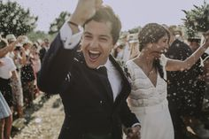 Wedding ceremony, brides smile happy