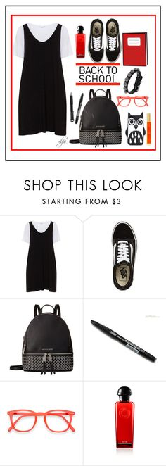 """""""Back to school"""" by dgia ❤ liked on Polyvore featuring Zizzi, Vans, MICHAEL Michael Kors, Marc by Marc Jacobs, Pentel and ABS by Allen Schwartz"""