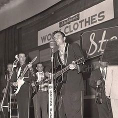 Johnny Cash & The Tennessee Two shaking the stage at The Opry. (1956)