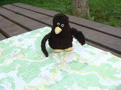 Erwin studiert eine Landkarte.