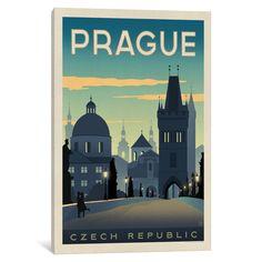 iCanvas World Travel Collection: Prague, Czech Republic by Anderson Design Group Canvas Print