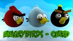 Un modelado de los personajes del juego de Angry Birds!!!