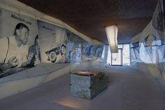 interior of Unique Museum Building in Unbalanced Position