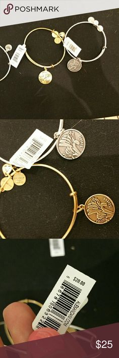 Discontinued Brand new Alex & Ani sister bracelet Brand new Alex and Ani gold or silver Alex and Ani bracelet. Never been worn and still has original tags. I have both colors ! Sorry no trades !! Will ship same or next day. Alex & Ani Jewelry Bracelets