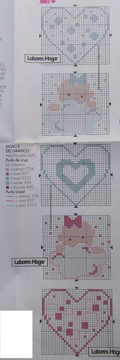 GRAFICOS PUNTO DE CRUZ GRATIS : SABANA CUNA Y VARIOS(16)