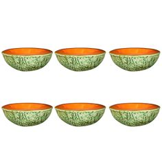 Six Trompe L'oeil Cantaloupe Ceramic Bowls | From a unique collection of antique and modern bowls at http://www.1stdibs.com/furniture/dining-entertaining/bowls/