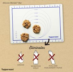 Silicone Wonder® Mat. Line cookie sheets and baking pans to eliminate the need for grease, nonstick spray, foil or parchment paper. It's microwave, freezer, fridge and oven safe (up to 425° F/220° C). Wipes clean easily. #bakeitupp