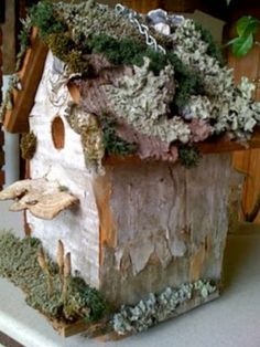 With Birch Bark Nesting Boxes Attract Song Birds | creative ideas