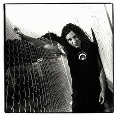 Eddie Vedder Black and white Photo shoot 90s