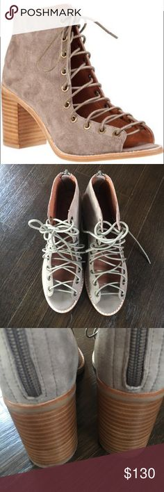 """NIB Jeffrey Campbell """"Cors"""" taupe - 6.5 Brand new, NEVER WORN. :( perfect condition, comes in original box. Bought a few months ago, tried em on with a few outfits but never actually wore them anywhere... price firm Jeffrey Campbell Shoes Ankle Boots & Booties"""