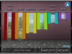 Lana CC Finds - srslysims:  ** Simplistic Curtains **  I loved...