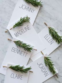 Place Cards - Your Thanksgiving table should smell fantastic—even before you bring out the turkey. These rosemary ... - Spoon Fork Bacon