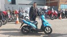 Syphe collecting his new Suzuki 110ccThanks again mate
