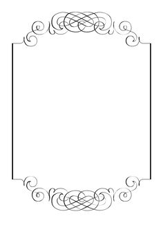Free printables for happy occasions : DIY: calligraphic frame wedding invitation